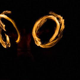 Fire Dance  by Haylee Pincus - Abstract Fire & Fireworks ( luau, haylee pincus, hd photography, hawaii, fire )