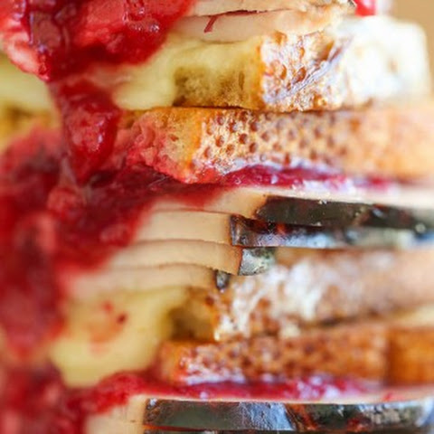 Turkey Cranberry Grilled Cheese