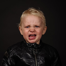 Angry model by Gunnar Sigurjónsson - Babies & Children Child Portraits