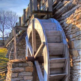 Water wheel by Teresa Husman - Buildings & Architecture Architectural Detail ( kansas city, wheel )