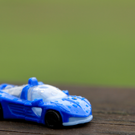 Toy Car by Tommy  Cochrane - Abstract Water Drops & Splashes ( car, wood, toy, toy car, rain, shallow depth of field )