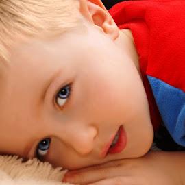 Laying Around by Cheryl Korotky - Babies & Children Child Portraits