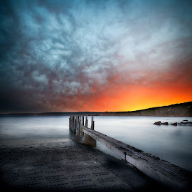 Fire by Greg Tennant - Landscapes Sunsets & Sunrises ( sunrise, ocean view )