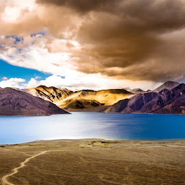 Magical Pangong by Pradyumna Verma - Landscapes Travel ( nature, india, lake, ladakh, landscape, travel photography, unseen )
