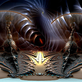 A Tale Of 2 Cities; Again by Rick Eskridge - Illustration Sci Fi & Fantasy ( fantasy, jwildfire, mb3d, fractal, twisted brush )