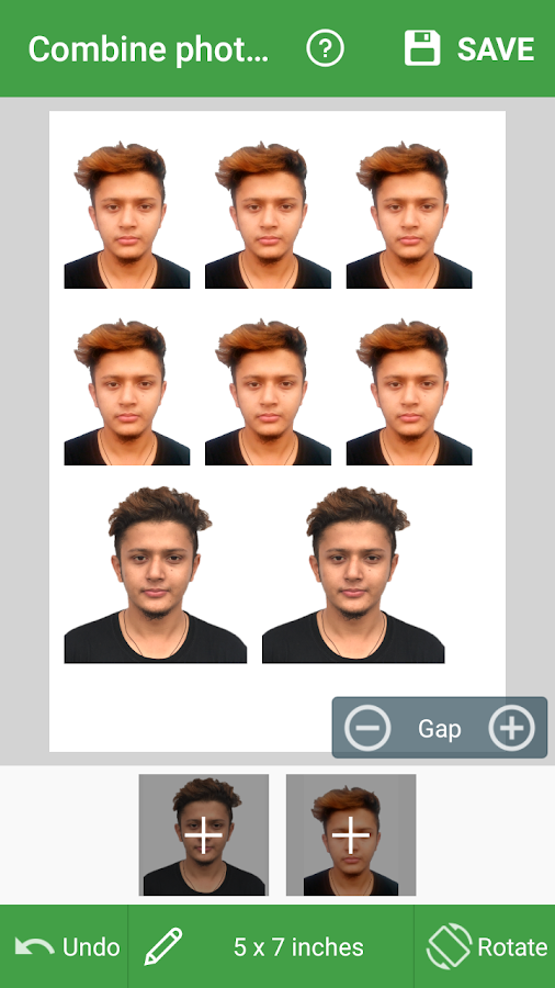 Passport Size Photo Editor – ID Photo Maker Studio Screenshot 1