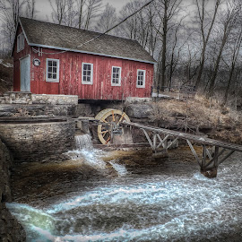 Mountain Mills at Decew Falls by Nick Goetz - Buildings & Architecture Public & Historical ( decew falls, decew, mountain mills, historic, morningstar flour & feed )