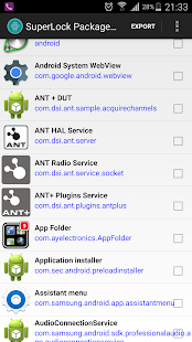 Package Disabler Pro (Samsung) Screenshot
