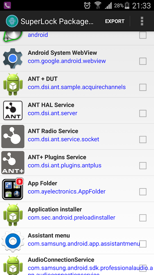 Package Disabler Pro (Samsung) Screenshot 9