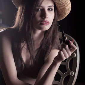 the pipe by Јанус Т. - People Portraits of Women