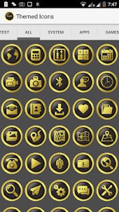 New Gold Icon Pack Free - screenshot