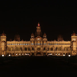 Mysore Palace by Shiraz Hussain - Buildings & Architecture Public & Historical ( history, building, arch, night photography, palace )