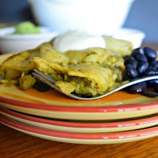 Homemade Green Enchiladas (vegetarian)