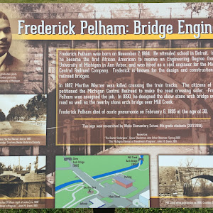 Frederick Pelham: Bridge Engineer   Frederick Pelham was born on November 7, 1864.  He attended school in Detroit.  In 1887, he became the first African American to receive an Engineering Degree from ...