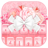 App Charming Pink Roses Bow Keyboard Theme APK for Windows Phone