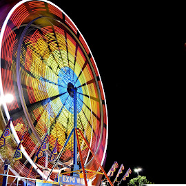 summer night fair by Dallas Chalkley Jr. - City,  Street & Park  Amusement Parks