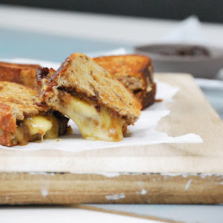 Gourmet Grilled Cheese with Fig Butter, Gruyere, and Apples