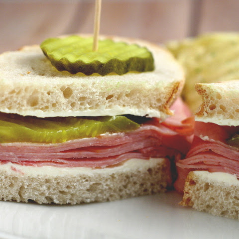 Dill Pickle Ham Sandwich