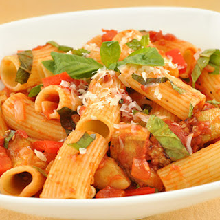 Rigatoni with Eggplant and Basil