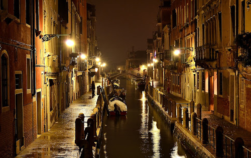 Venice, Italy by Shivani Trehan - Buildings & Architecture Other Exteriors ( venice, night, bridge, italy, canal )