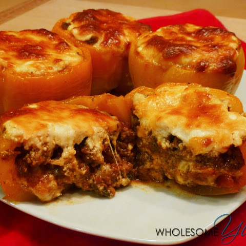 Beef Lasagna Stuffed Peppers (Gluten-Free, Low Carb)