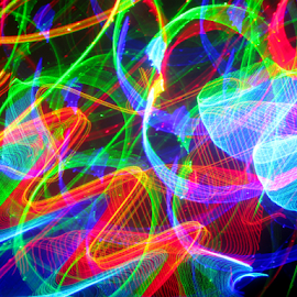 Light fragments by Jim Barton - Abstract Patterns ( laser light, light dfesign, colorful, laser design, light fragments, laser, laser light show, light, science )