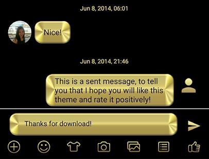 SMS Messages Metallic Gold- screenshot thumbnail