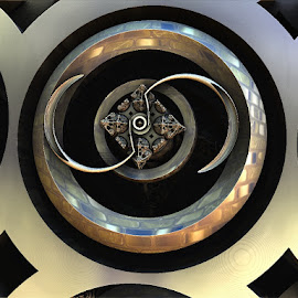 Ying & yang metal by Linda Czerwinski-Scott - Illustration Abstract & Patterns ( patterns, abstract art, illustration, fractals, design )