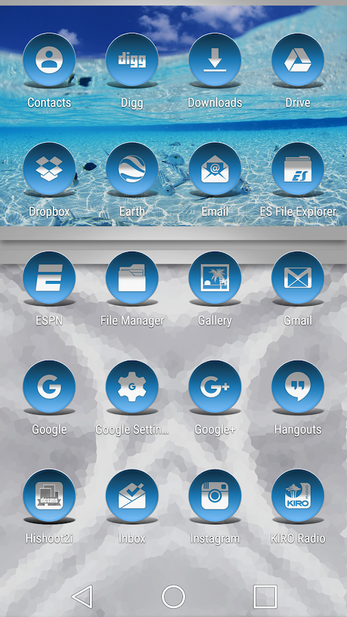 Daf Blue - Icon Pack Screenshot 2
