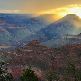 Sunrise Over the Grand by Kimberly Sharp - Novices Only Macro ( mather point grand canyon sunrise landscape seven wonders of the world )