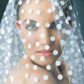 Veiled eyes by Natasha Corrie - Wedding Other ( fashion, polka dot, veil, bride, eyes )