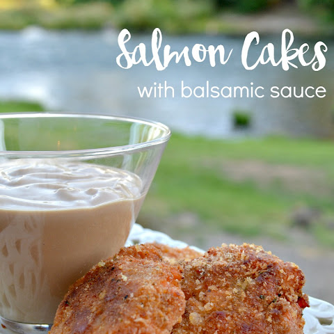Salmon Cakes with Balsamic Sauce