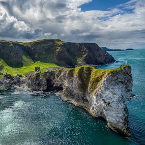 Kinbane Head by Jim Hamel - Landscapes Mountains & Hills ( water, ireland, kinbane, cliff, antrim, coast, kinbane head )