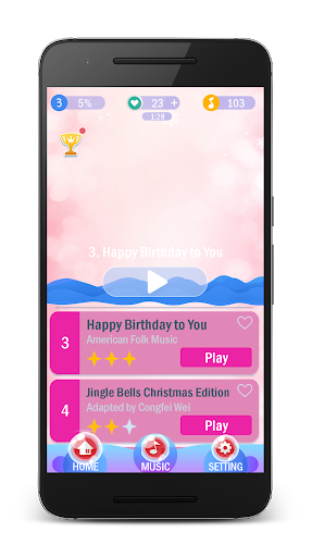Piano Pink Tiles For PC