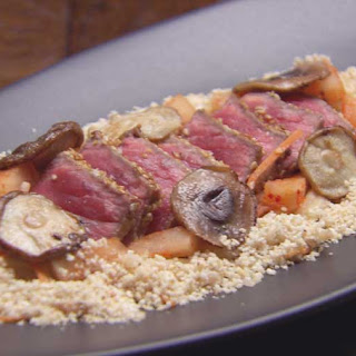 Beef Tataki with Toasted Rice