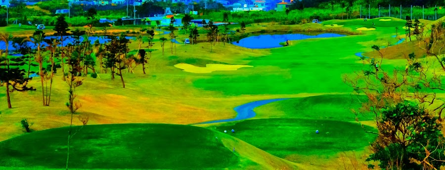 Painted Golf Course by Bill MacLachlan - Sports & Fitness Golf ( course, art, golf, alternative, paint )