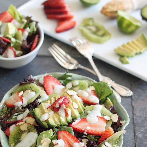 Strawberry Avocado Honey Lime Salad