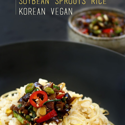 Korean Vegan Soybean Sprouts Rice