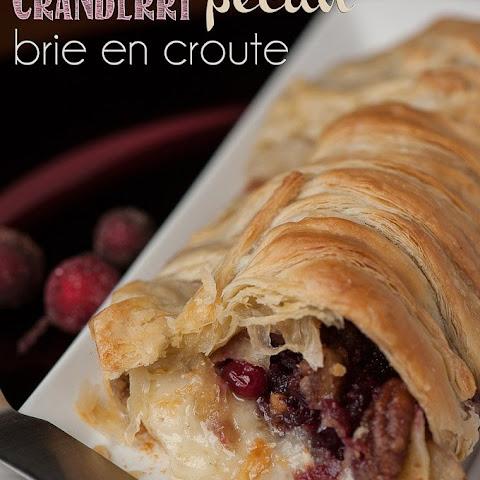 Baked Brie en Croute Recipe Cranberry Pecan Brie en Croute