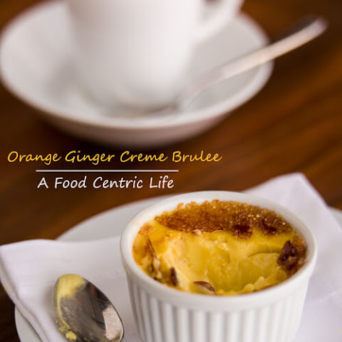 Orange Ginger Creme Brûlée