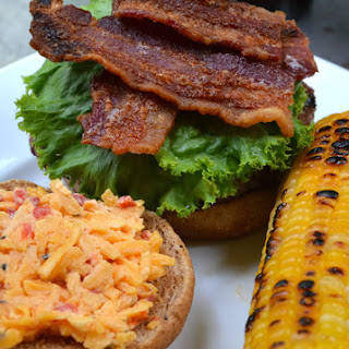 Pimiento Cheese Burgers with Bacon