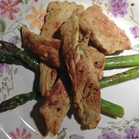 Asian Style Chicken Strips with Asparagus