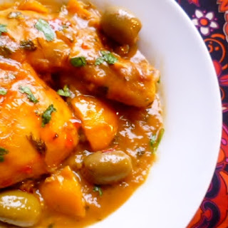 Claudia Roden's Tagine Of Chicken With Preserved Lemon And Green Olives (tagine Djaj Bi Zaytoun Wal Hamid)