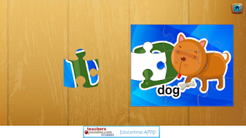 Screenshot of Kids ABCs Jigsaw Puzzles