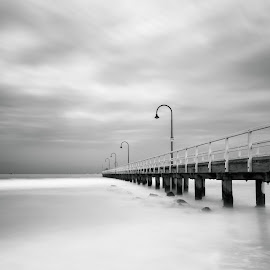 Serene by Zubair Aslam - Landscapes Waterscapes ( lagoon pier, lagoon, pier, long exposure, longexposure )