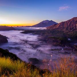 Pinggan by Bungsu Sumawijaya - Landscapes Mountains & Hills