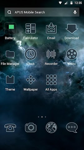 android Glassy sky theme for APUS Screenshot 1