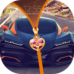 Super Cars Zipper Lock Screen