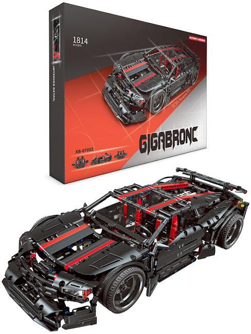 Конструктор Машинка, XXL, серии Brick Battle, Car, Автоспорт, черная с красным