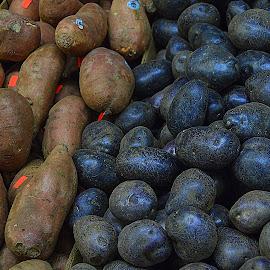 Potatoes-sweet & purple. by Andrew Piekut - Food & Drink Fruits & Vegetables